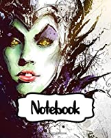 Notebook: Maleficent Powerful Fairy Magical Forest Adventure American Dark Fantasy Kingdom Inexpensive Gift For Boys And Girls, Soft Glossy Cover College Ruled Lined 110 Pages 7.5 x 9.25 Inches, Taking Notes, Writing Workbook for Teens & Children.