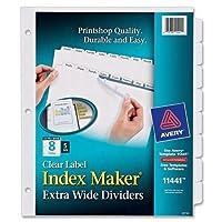 """Averyインデックスメーカーextra-wideタブディバイダー、8-tab、5/ ST、9"""" x11"""" CL ( 11441)"""