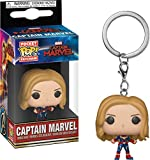 Funko - Porte Clé Marvel Captain Marvel Movie - Captain Marvel Unmasked Pocket Pop 4cm - 0889698364386