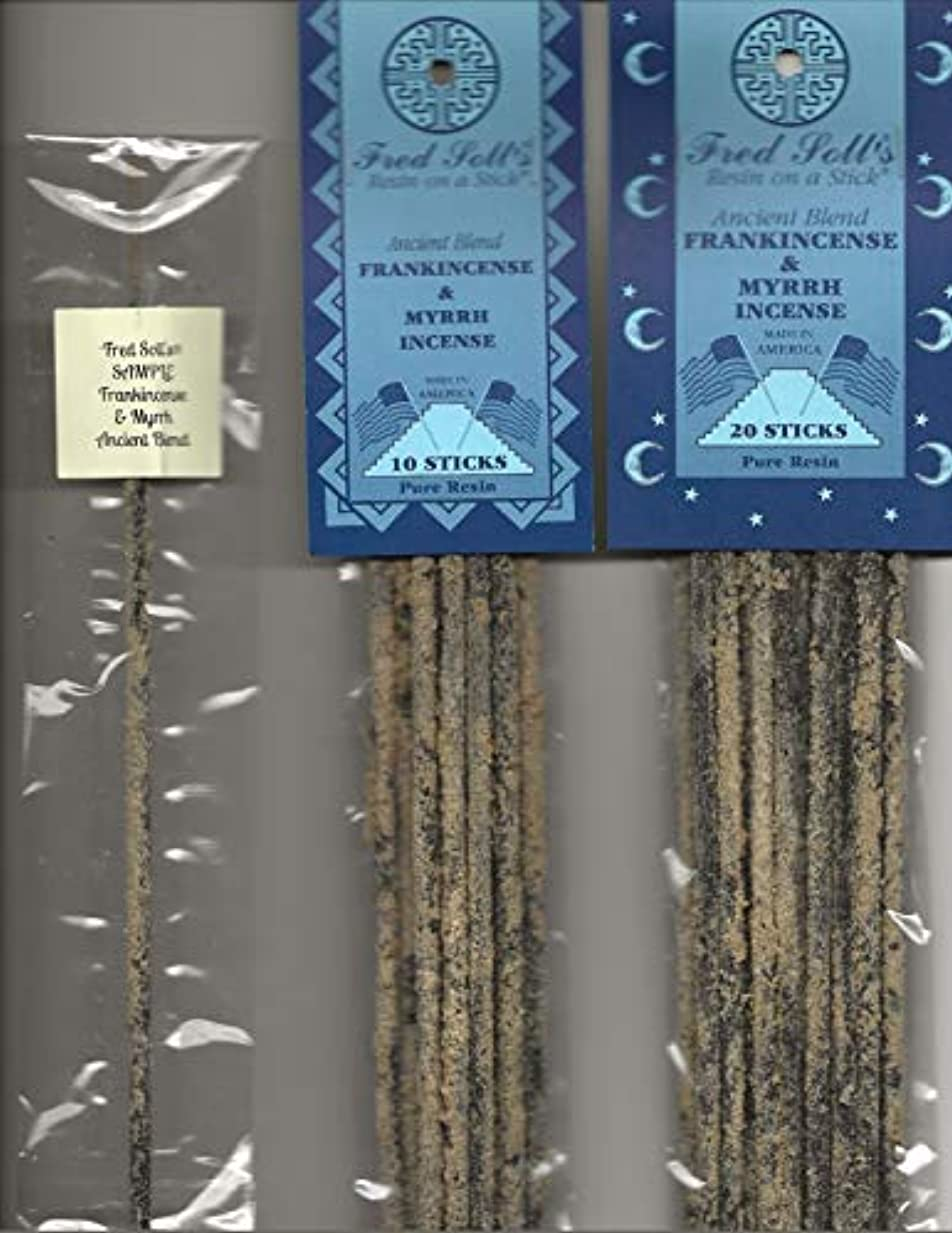 台無しに統計的警察Fred Soll 's Frankincense & Myrrh、古代ブレンドIncense、20 Sticks