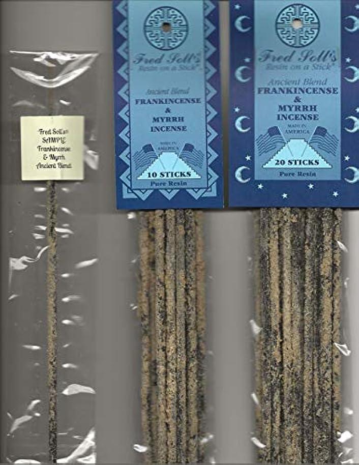 ペストリー段落りFred Soll 's Frankincense & Myrrh、古代ブレンドIncense、20 Sticks