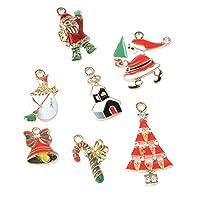 Prettyia ペンダント チャーム クリスマスツリー 吊り飾り 装飾 小道具 小物 7個入り 多種類 キーチャーム 電話掛け装飾