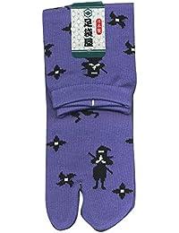 足袋屋 メンズ 忍者 柄 足袋 ソックス (靴下 総柄 日本製) 25-27cm