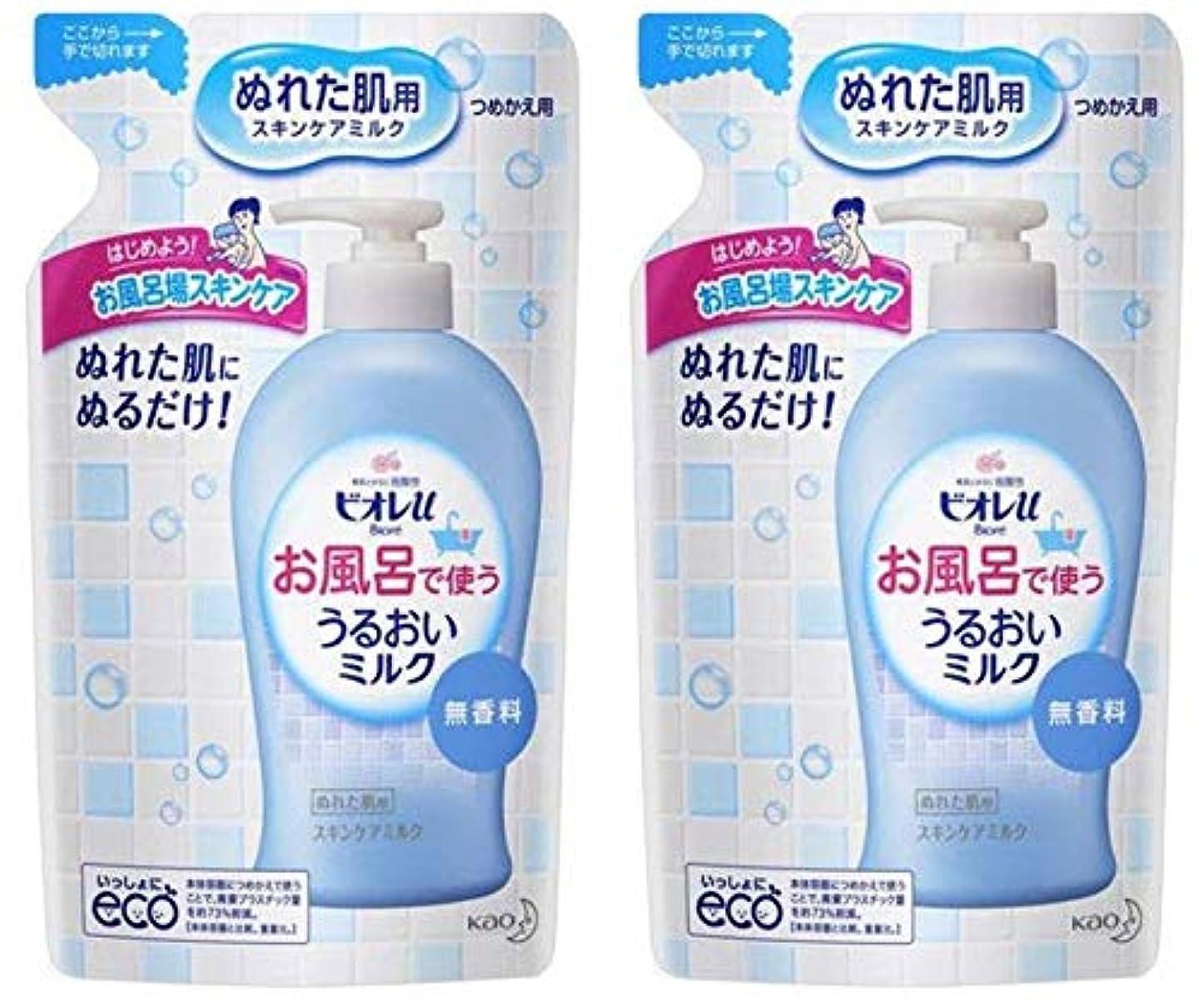 光沢彼自身生きているビオレu お風呂で使ううるおいミルク 無香料 つめかえ用 250mL×2個