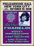 ポスター アレサ フランクリン アレサ フランクリン、ニューヨーク、1968 額装品 アルミ製ハイグレードフレーム(ゴールド)