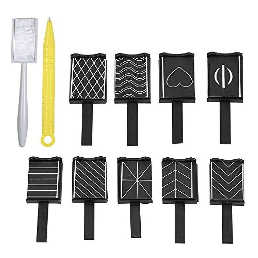 地上のスロー小麦粉11 Pieces/set 3D Nail Art Magnet Stick Cat Eye Effect UV Nail Gel Polish Drawing Magnetic Vertical Stick Pen