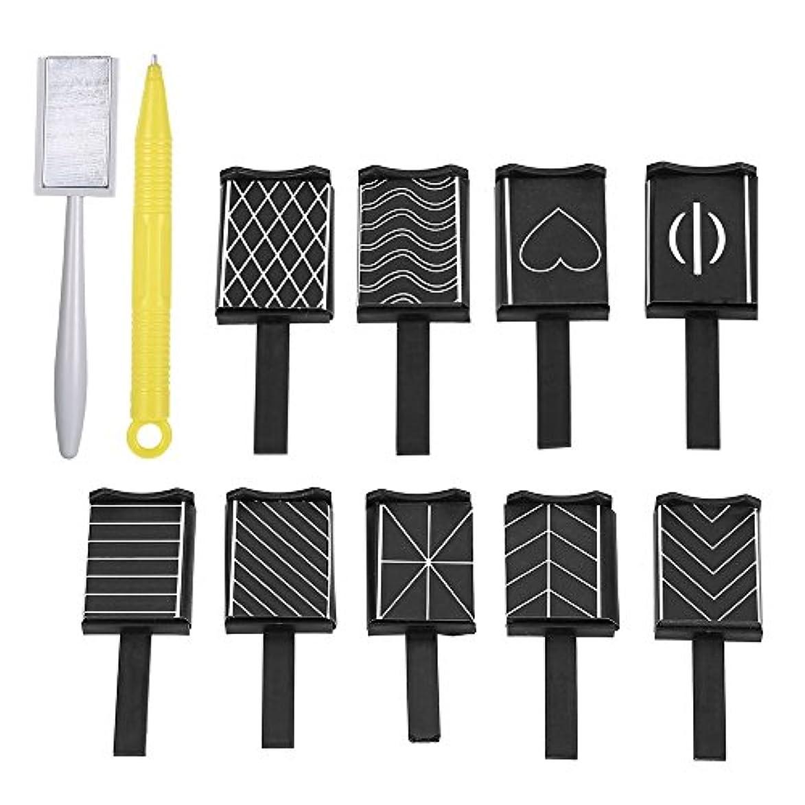単に年ローマ人11 Pieces/set 3D Nail Art Magnet Stick Cat Eye Effect UV Nail Gel Polish Drawing Magnetic Vertical Stick Pen