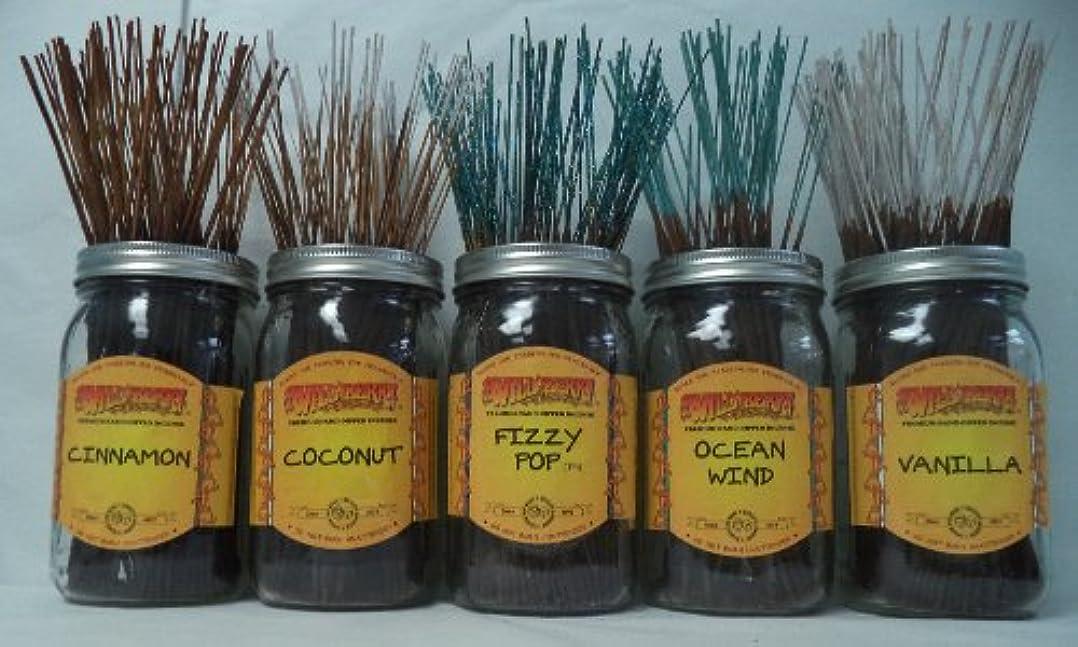 細心の消える知覚するWildberry Incense Sticks Best Sellerセット# 4 : 20 Sticks各5の香り、合計100 Sticks 。