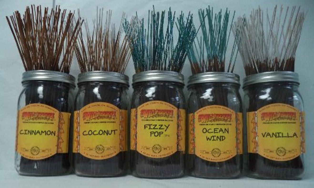 感嘆符貴重な世論調査Wildberry Incense Sticks Best Sellerセット# 4 : 20 Sticks各5の香り、合計100 Sticks 。