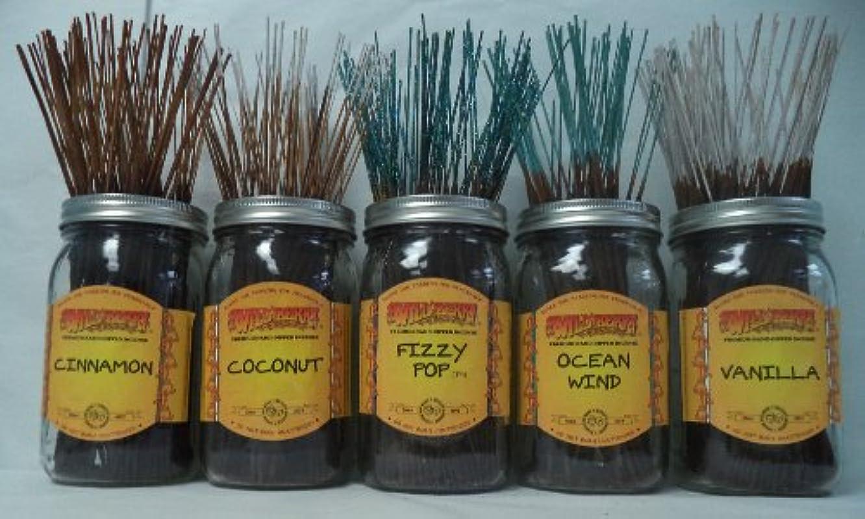 農民自治的に負けるWildberry Incense Sticks Best Sellerセット# 4 : 20 Sticks各5の香り、合計100 Sticks 。