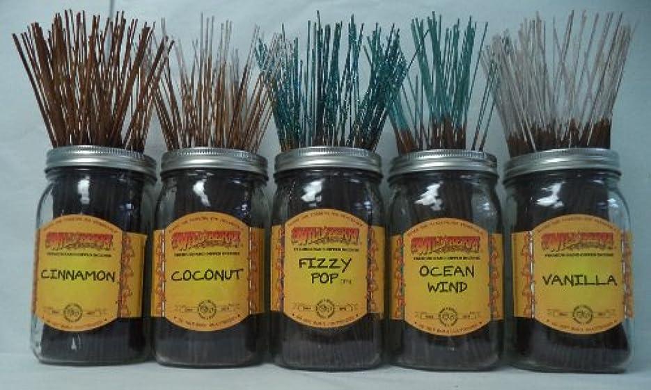 台無しに分注する厚さWildberry Incense Sticks Best Sellerセット# 4 : 20 Sticks各5の香り、合計100 Sticks 。