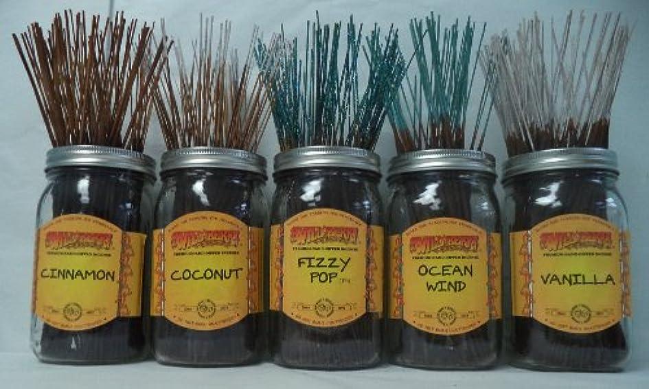 海岸強い列挙するWildberry Incense Sticks Best Sellerセット# 4 : 20 Sticks各5の香り、合計100 Sticks 。