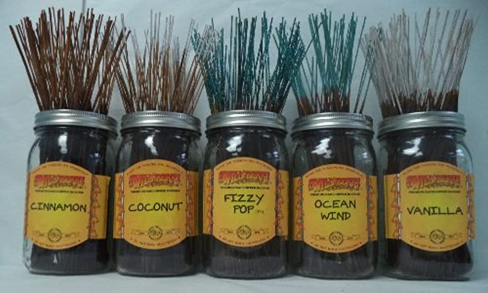 胸荷物満足させるWildberry Incense Sticks Best Sellerセット# 4 : 20 Sticks各5の香り、合計100 Sticks 。
