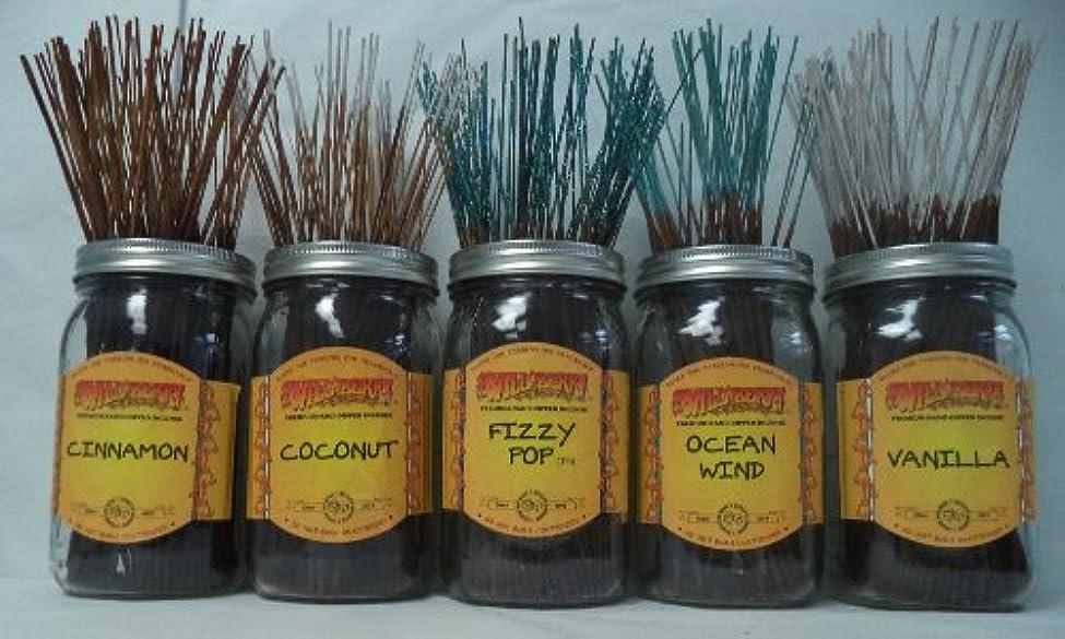 ロール静かに散髪Wildberry Incense Sticks Best Sellerセット# 4 : 20 Sticks各5の香り、合計100 Sticks 。