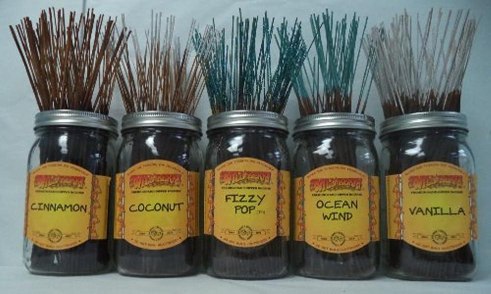 地理頭痛運ぶWildberry Incense Sticks Best Sellerセット# 4 : 20 Sticks各5の香り、合計100 Sticks 。