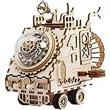 Unbekannt 3D木製パズル - DIYプラネタリー宇宙船ボックスメカニカル組み立てキットギフト 子供 ティーン 大人用