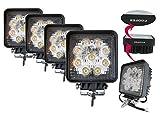 Amazon.co.jpAmilliastyle LED 作業灯 ワークライト 27W 12V 24V兼用 広角 9連 防水 自動車LEDライト 4個セット 1年保証(27W-S*4)