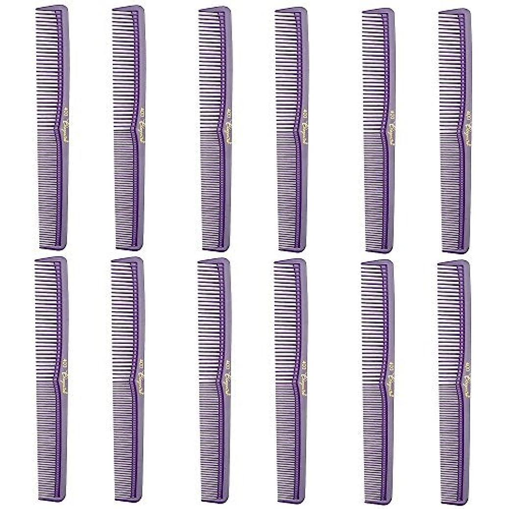 Barber Beauty Hair Cleopatra 400 All Purpose Comb (12 Pack) 12 x SB-C400-PURPLE [並行輸入品]