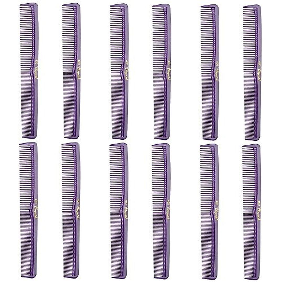 ラボ規則性お香Barber Beauty Hair Cleopatra 400 All Purpose Comb (12 Pack) 12 x SB-C400-PURPLE [並行輸入品]