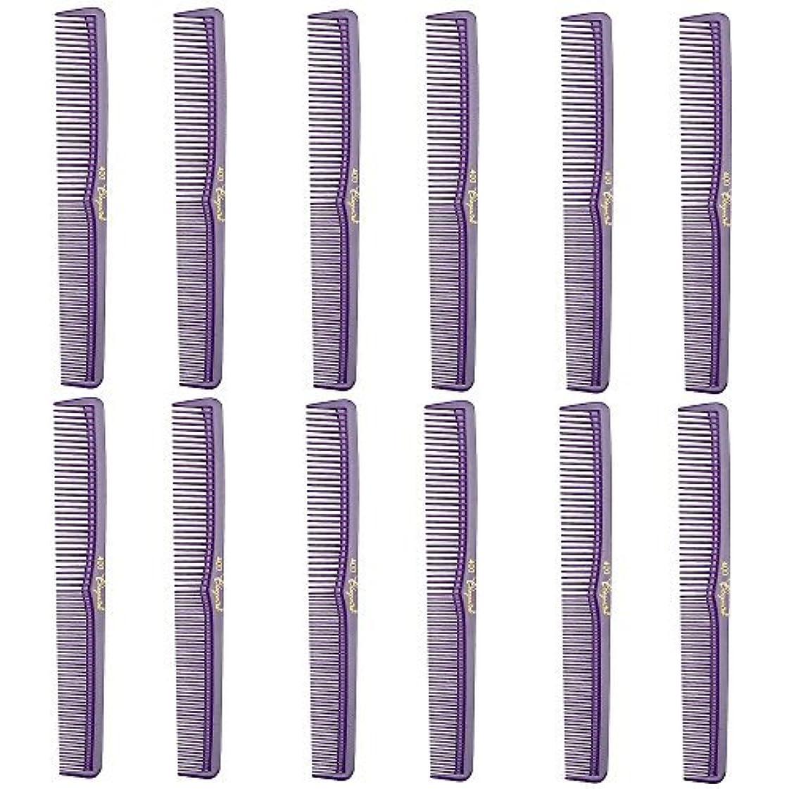 煙抵抗離すBarber Beauty Hair Cleopatra 400 All Purpose Comb (12 Pack) 12 x SB-C400-PURPLE [並行輸入品]