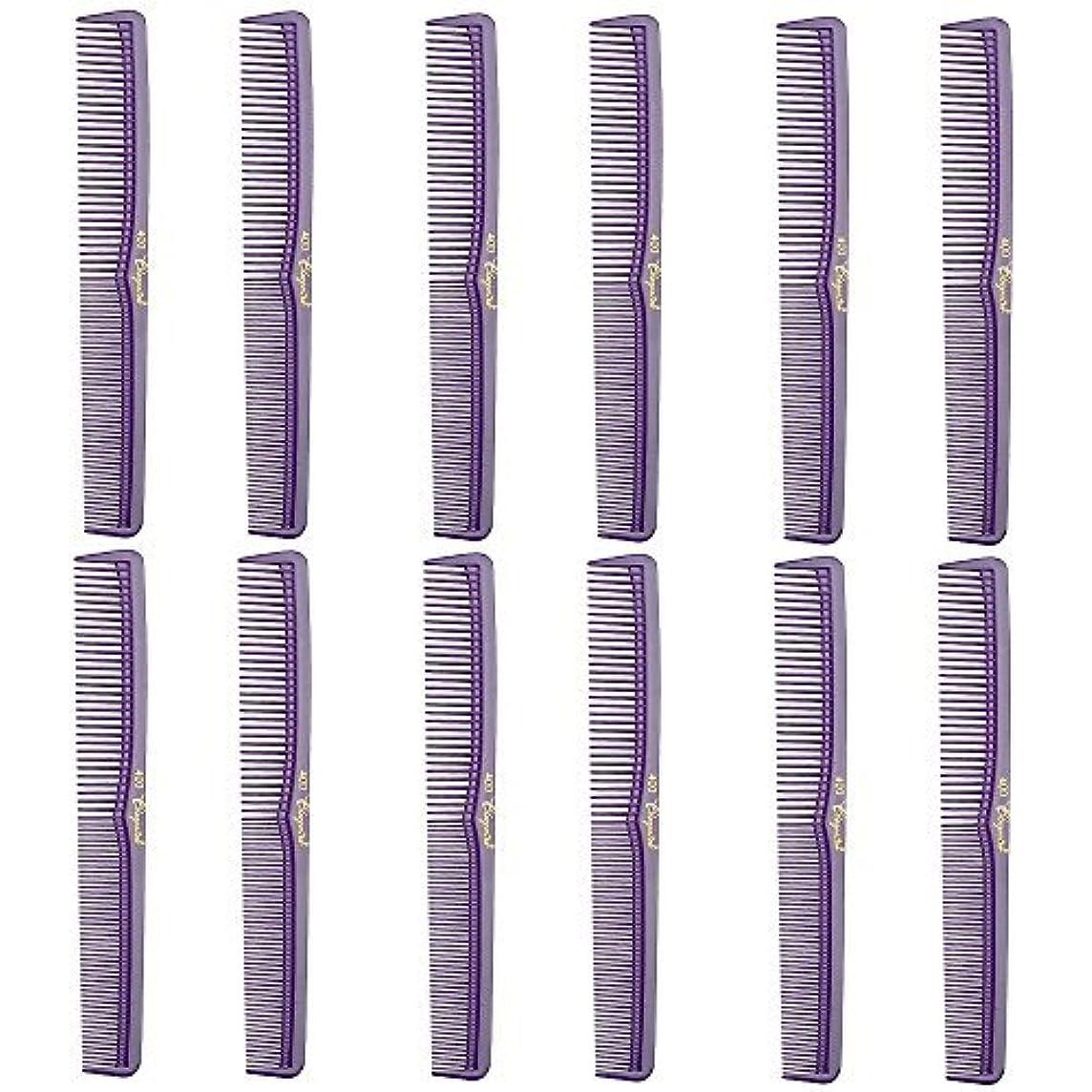理想的には称賛等しいBarber Beauty Hair Cleopatra 400 All Purpose Comb (12 Pack) 12 x SB-C400-PURPLE [並行輸入品]