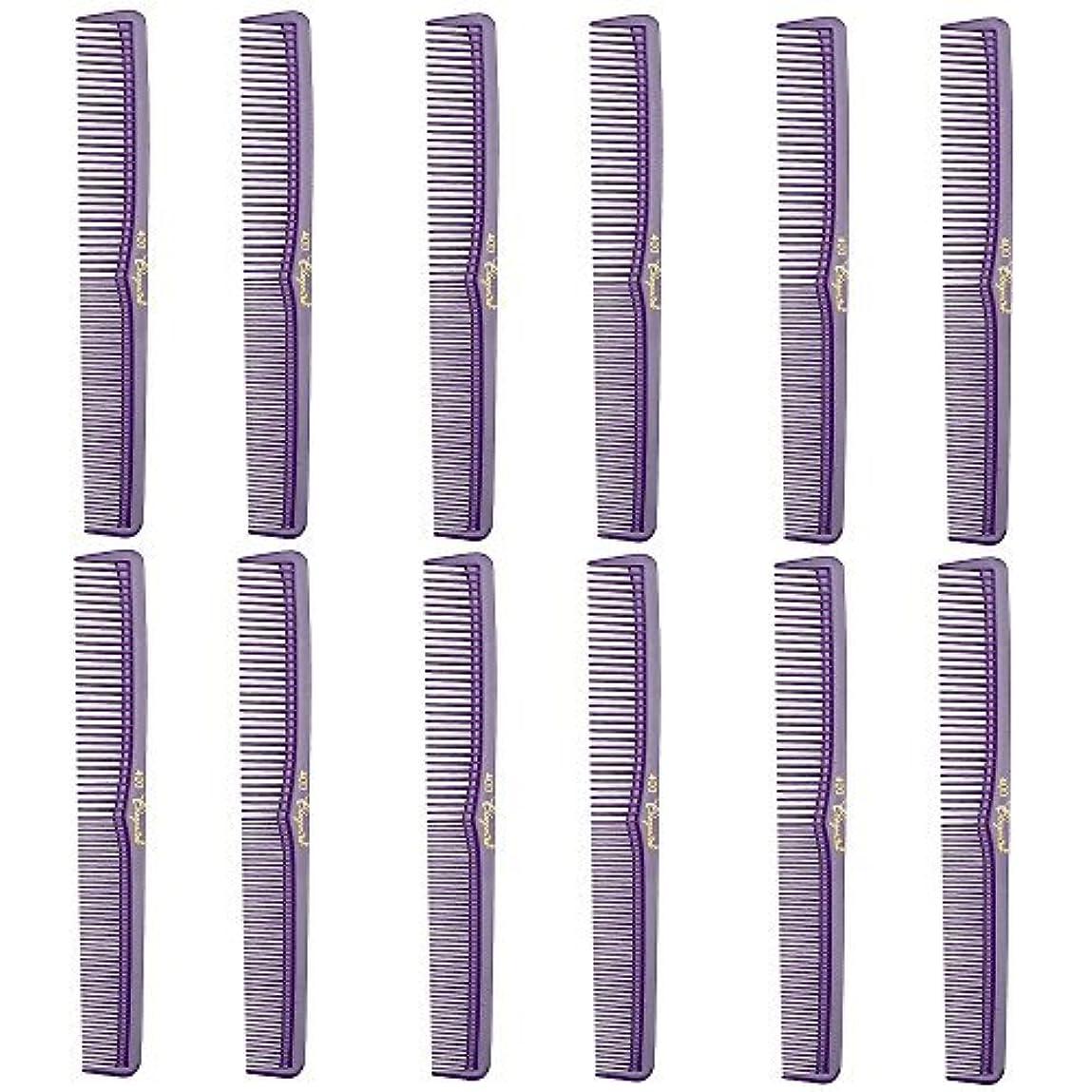 先史時代の退屈させるトリムBarber Beauty Hair Cleopatra 400 All Purpose Comb (12 Pack) 12 x SB-C400-PURPLE [並行輸入品]