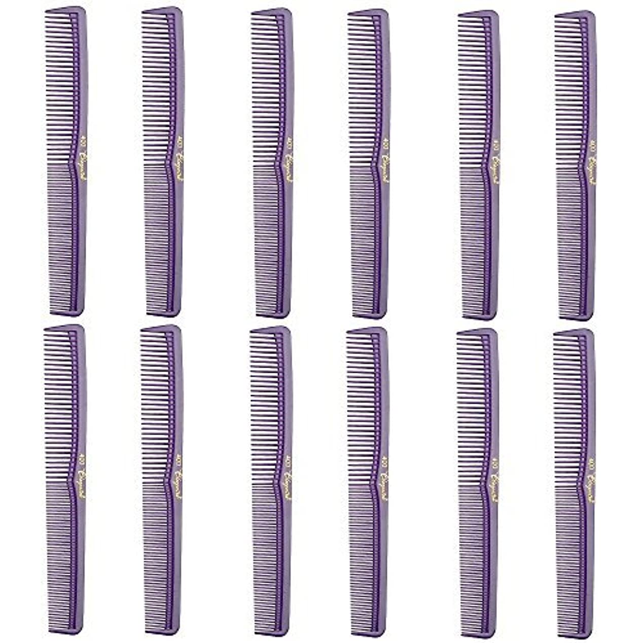ファイアルゴール撃退するBarber Beauty Hair Cleopatra 400 All Purpose Comb (12 Pack) 12 x SB-C400-PURPLE [並行輸入品]
