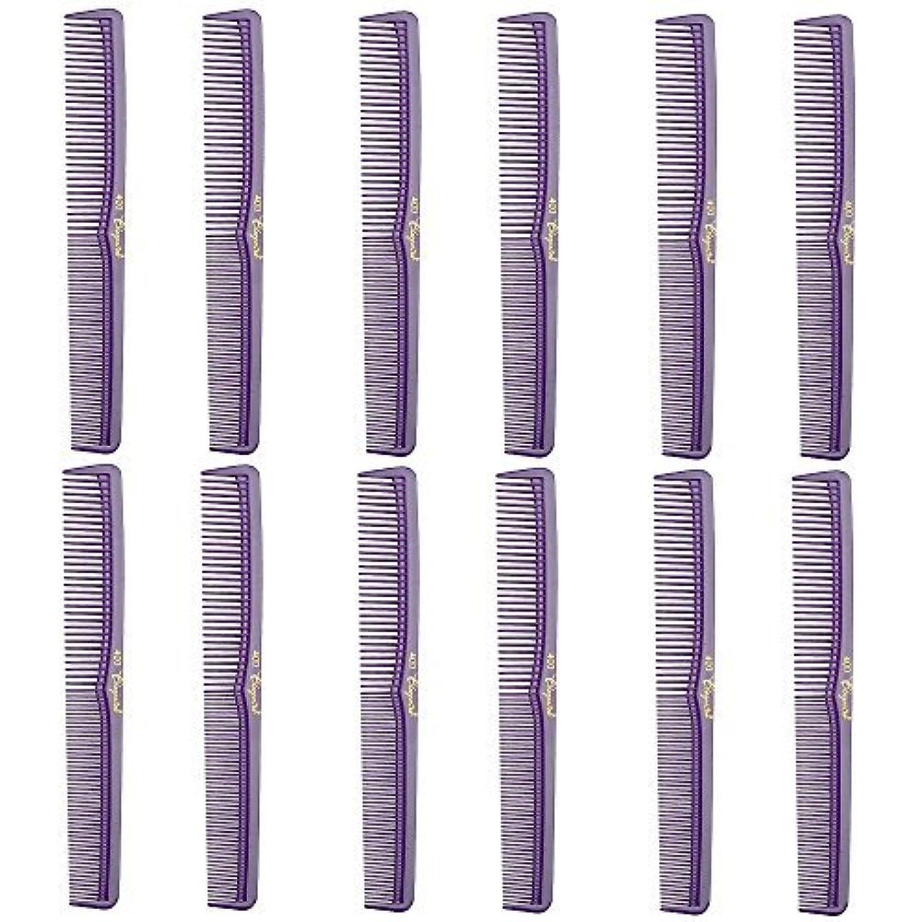 衝動論理的に気球Barber Beauty Hair Cleopatra 400 All Purpose Comb (12 Pack) 12 x SB-C400-PURPLE [並行輸入品]