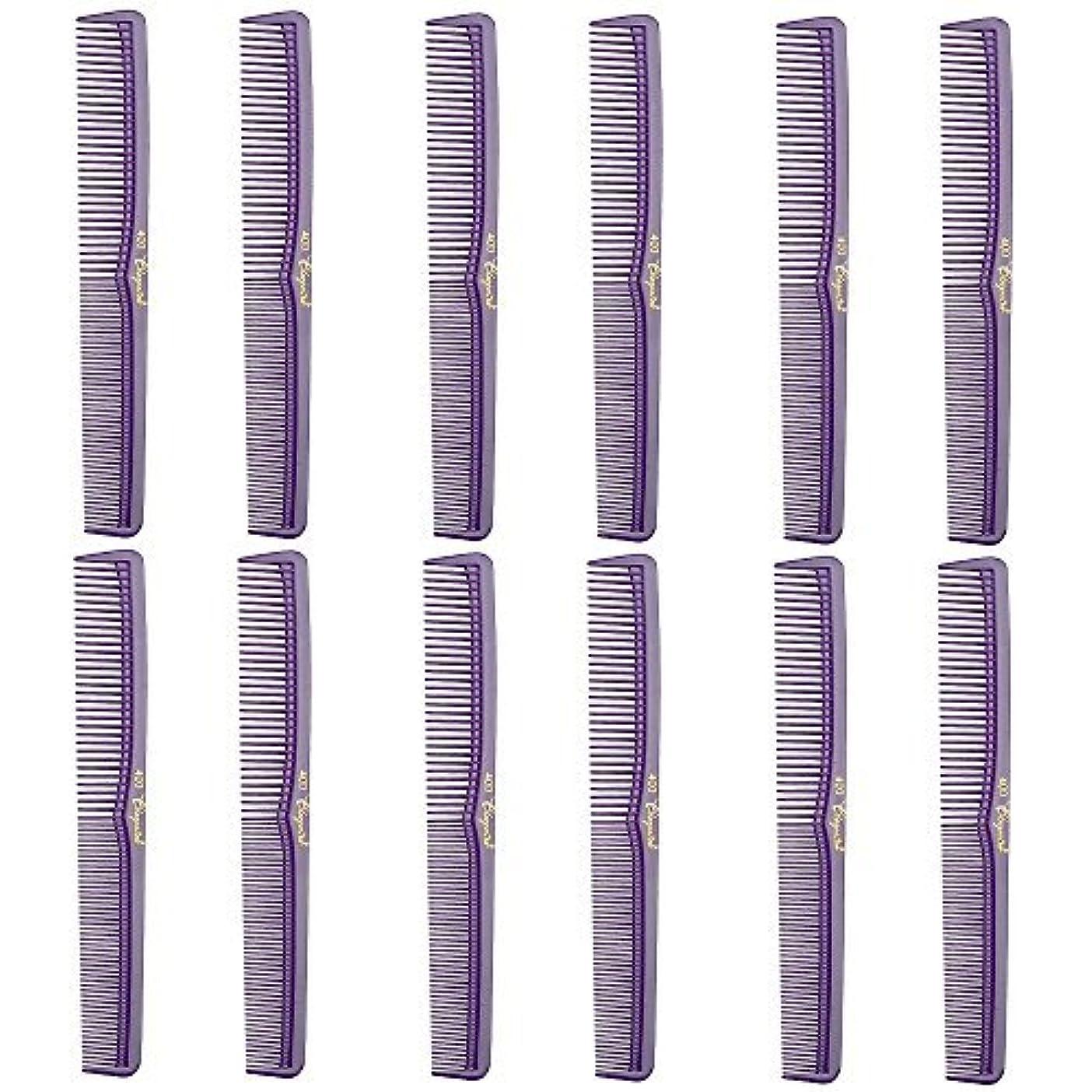 抹消多用途秋Barber Beauty Hair Cleopatra 400 All Purpose Comb (12 Pack) 12 x SB-C400-PURPLE [並行輸入品]