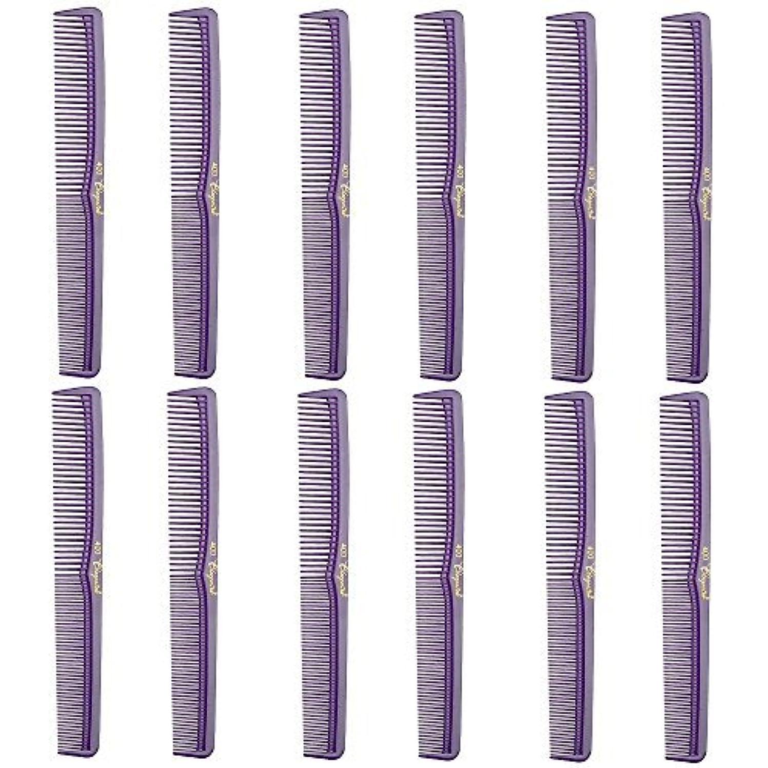状況傾向がある受け入れるBarber Beauty Hair Cleopatra 400 All Purpose Comb (12 Pack) 12 x SB-C400-PURPLE [並行輸入品]