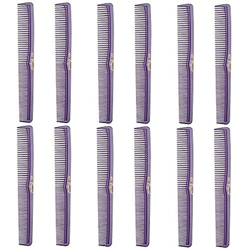 Barber Beauty Hair Cleopatra 400 All Purpose Comb (12 Pack) 12 x SB-C400-PURPLE [並行輸入品]