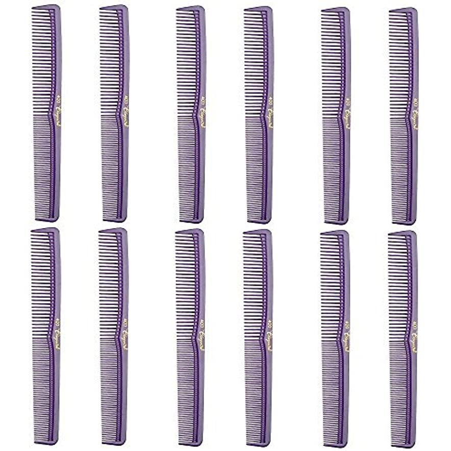 月曜海上公爵Barber Beauty Hair Cleopatra 400 All Purpose Comb (12 Pack) 12 x SB-C400-PURPLE [並行輸入品]