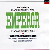 ベートーヴェン:ピアノ協奏曲第5番「皇帝」&第4番