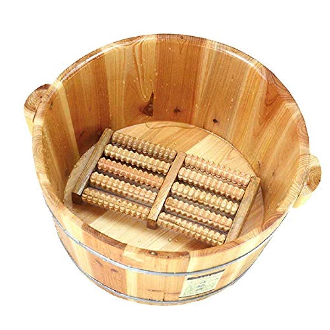 脆い四回小さなふたおよびマッサージャーの冬の軽量のタケ管の暖房水妊娠中の女性が付いているフィートの浴槽のバレルペディキュアバレルの足湯