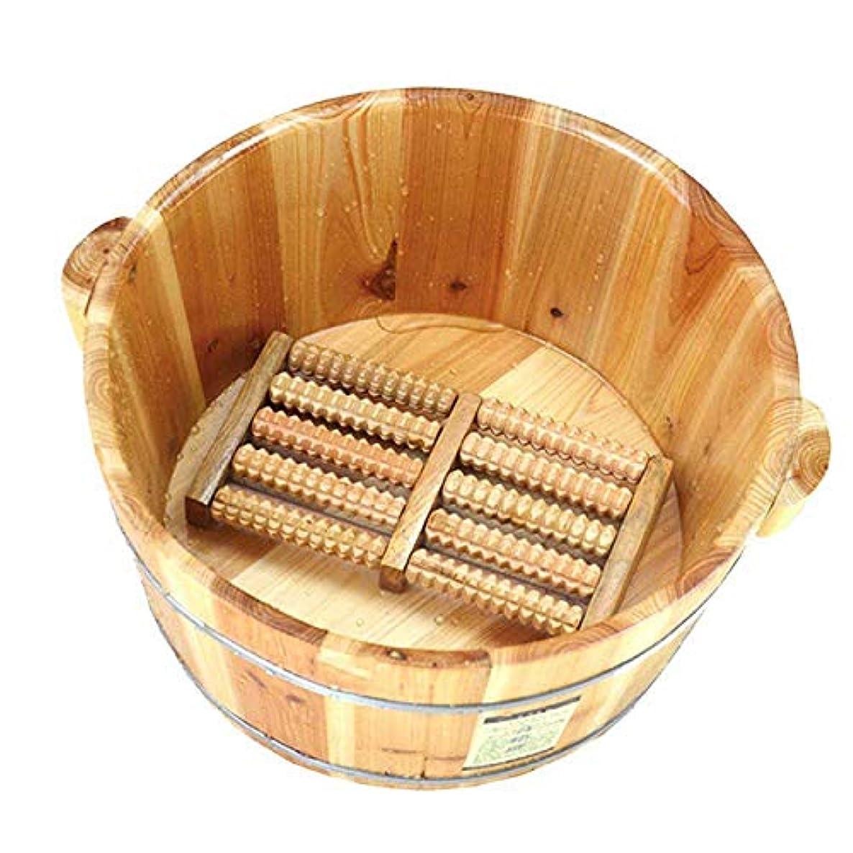 不安入場セージふたおよびマッサージャーの冬の軽量のタケ管の暖房水妊娠中の女性が付いているフィートの浴槽のバレルペディキュアバレルの足湯