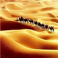 Weaeo カスタム3D写真の壁紙の壁紙砂漠で歩くキャメル壁紙居間テレビのソファの背景のための高品質の家の装飾-400X280Cm