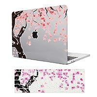 MacBook Retina 12 ケース-印刷ハードケース MacBook 12インチ専用 綺麗なさくらパターン グレー クリスタルケースカバー + 日本語キーボードカバー(M403-8)