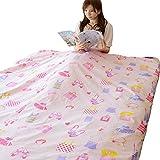 エムール 日本製 綿100% 女の子 子ども向け 掛け布団カバー ジュニアサイズ 135×185cm ピンク