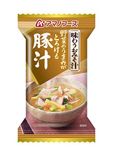 アマノフーズ 味わうおみそ汁 豚汁 15g×10個