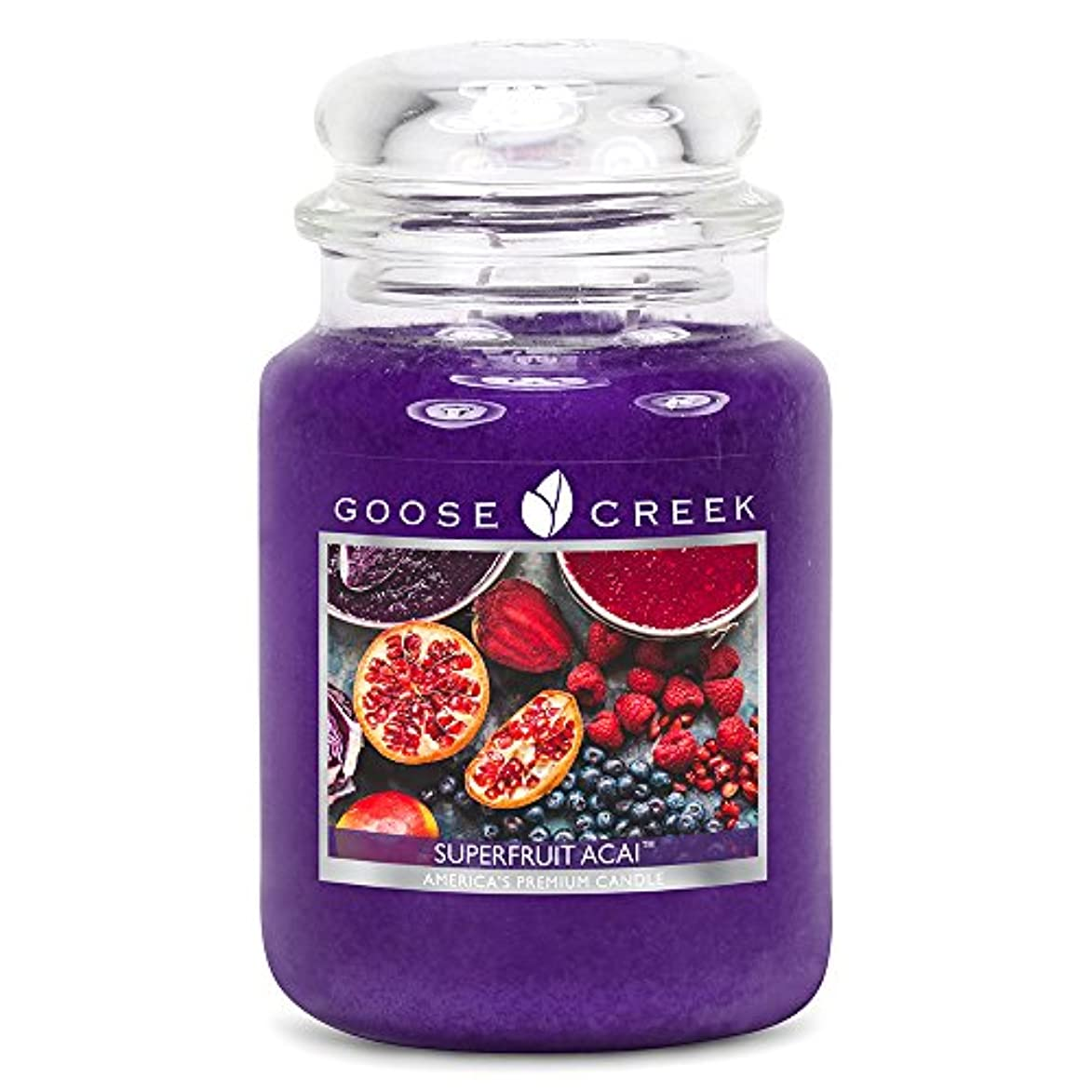 鉄操作可能謝罪するGoose Creek ES24570 24 oz Essential Superfruit Acai Jar Candle