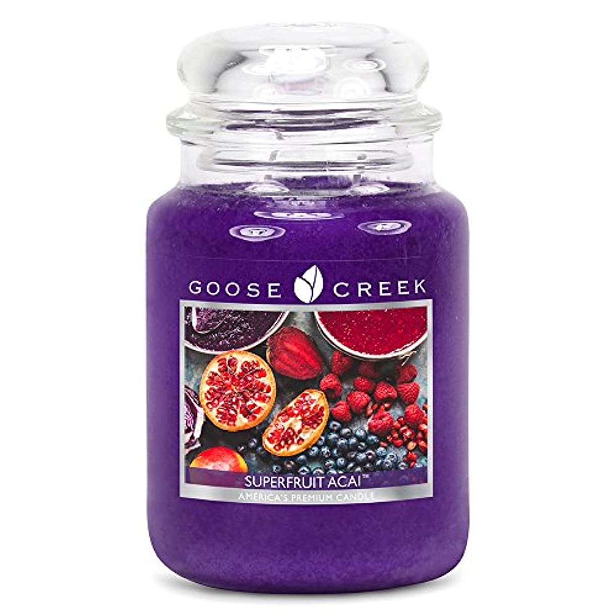 秀でるしないでください建築家Goose Creek ES24570 24 oz Essential Superfruit Acai Jar Candle