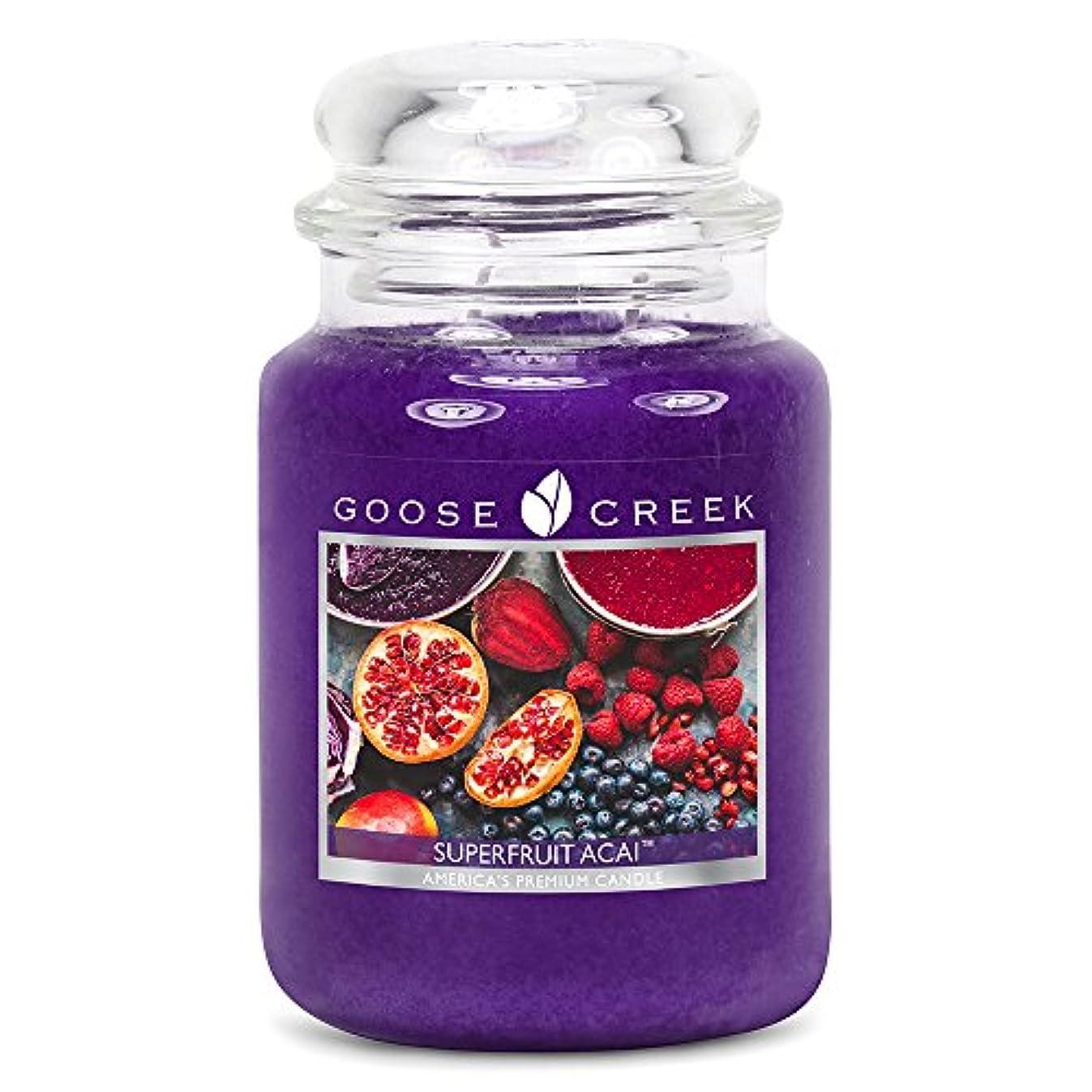 マーチャンダイジングおとなしいアクションGoose Creek ES24570 24 oz Essential Superfruit Acai Jar Candle