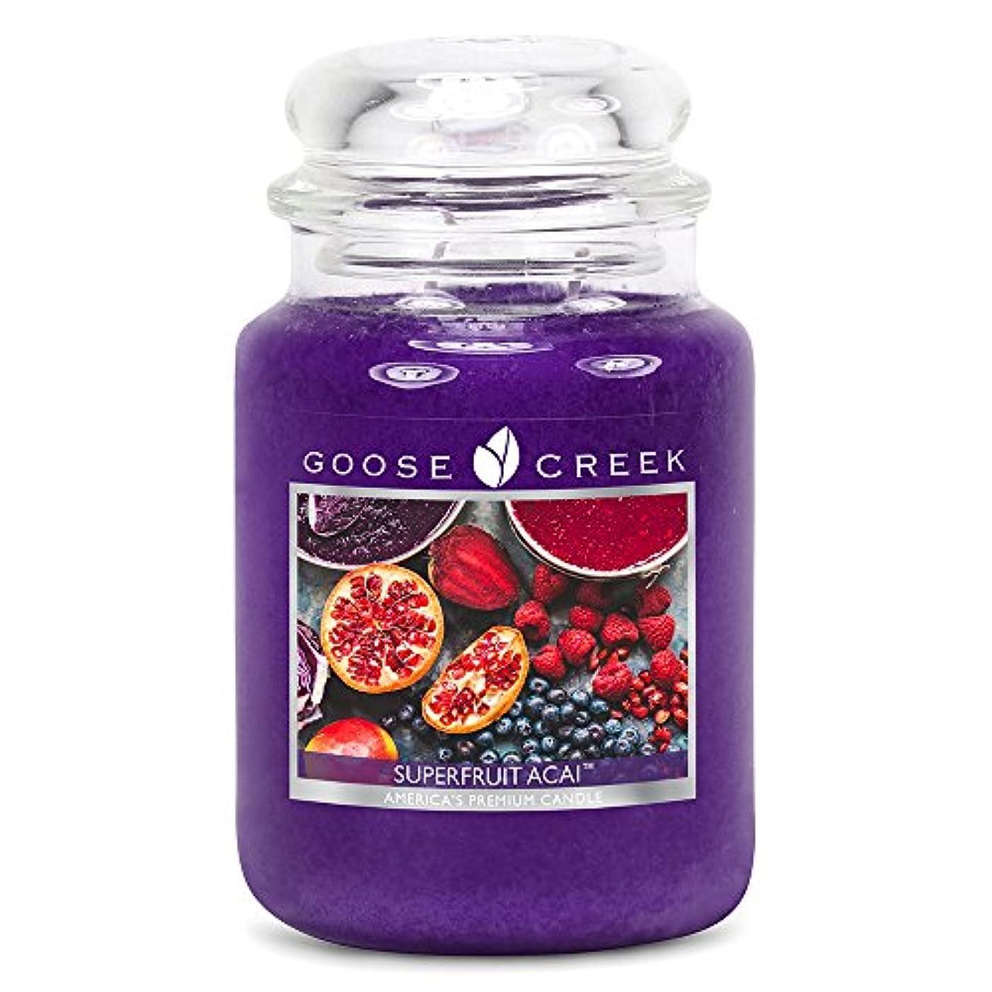 ハプニングより良い口述Goose Creek ES24570 24 oz Essential Superfruit Acai Jar Candle