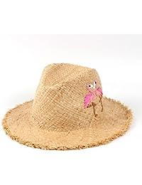 ハット 麦わら帽子 100%ラフィア 夏 女性 フロッピーワイドブリム ビーチサンハット 手作りバード パナマ