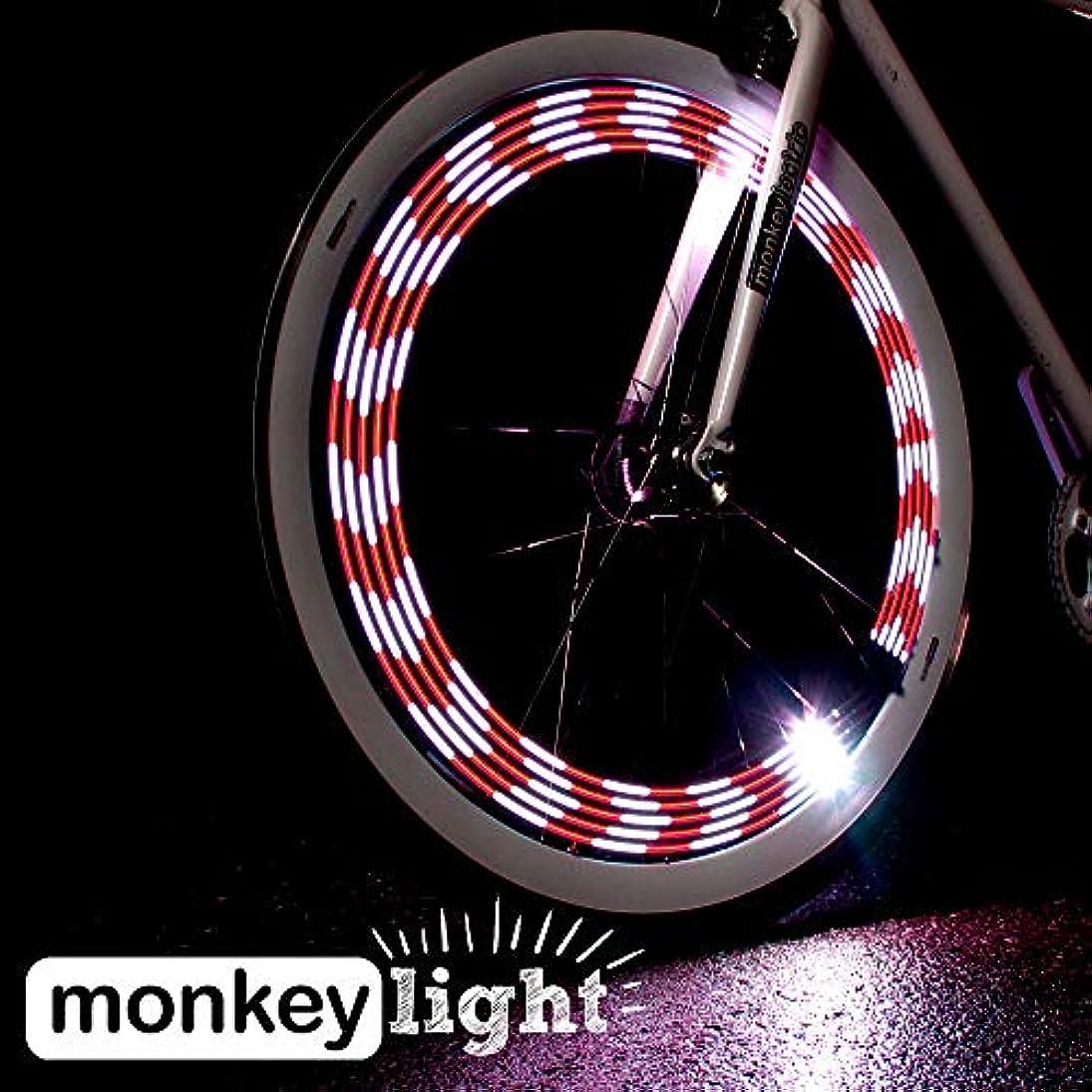 風が強い弁護農夫Monkey Light M210 モンキーライト / 80ルーメンの輝度と10フルカラーLED / 自転車用 LED ホイールライト