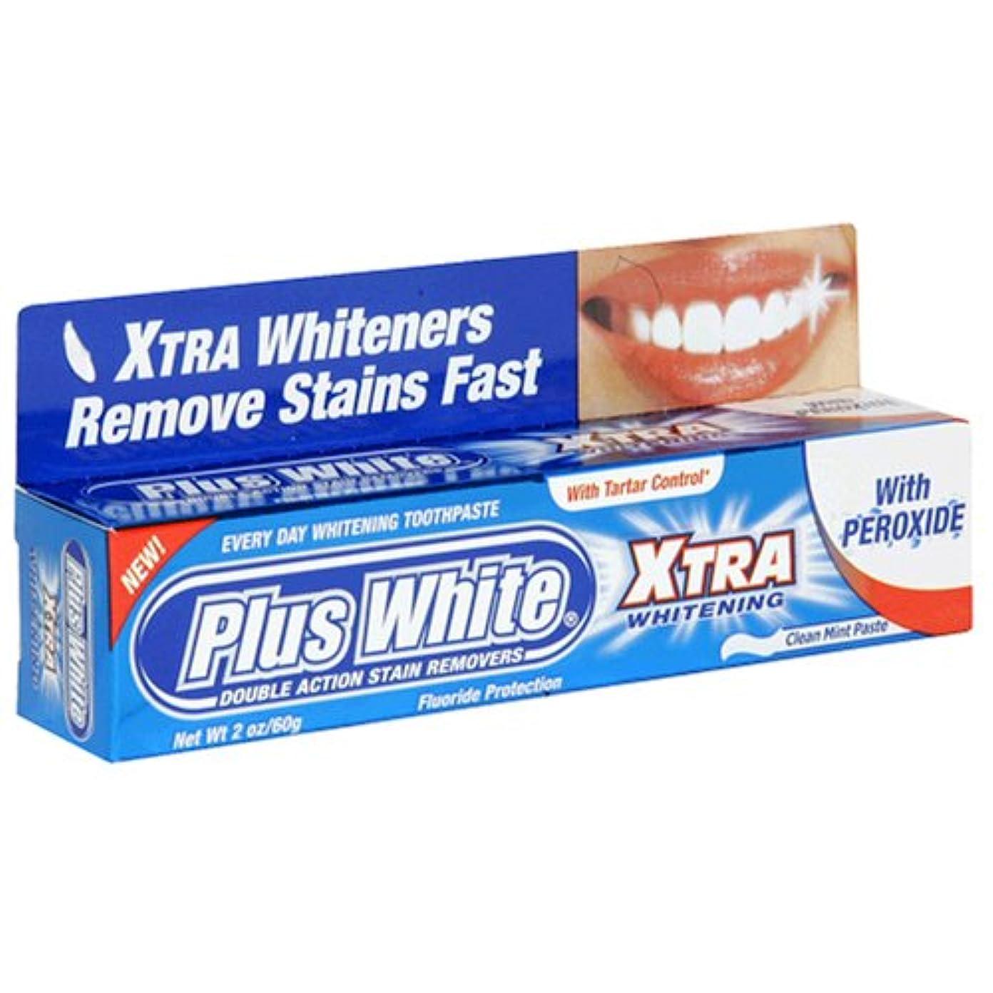 パパ咽頭ブロックするPlus White Xtra Whitening Every Day Whitening Toothpaste With Tartar Control Clean Mint 2 Oz (60 G) (Case Of 6...