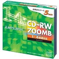 三菱化学 SW80QU5 CD-RW 700MB 5枚 スリムケース入り