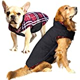 Albabara Dog Coat British Style Plaid Dog Winter Vest Cozy Waterproof Windproof Reversible Dog Jacket Pet Dog Cold Weather Clothes Warm Dog Apparel for Small Medium Large Dogs (XS - 3XL