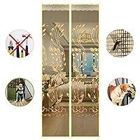 完全なフレーム 磁気網戸, 大型メッシュ カーテン, 夏 通気性 防蚊 パティオのドアのカーテン 出入口-A 90x200cm(35x79inch)