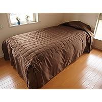 ニコル?ベッドスプレッド(ベッドカバー) キング(K)幅190cm×長さ280cm×高さ45cm ブラウン